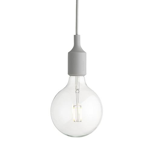 北欧デンマークの照明ブランドmuuto ムート 当店一番人気 正規販売店 裸電球そのものを生かしたシンプルなフォルム MUUTO ペンダント照明 E27 ライトグレー 安心の実績 高価 買取 強化中