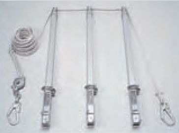 SLポール(藤井電工)水平親綱緊張システム(1本)(受注生産)