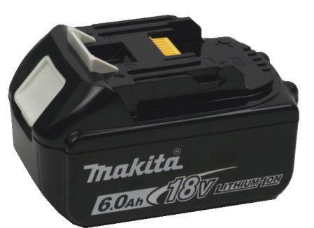 マキタ18V、6Ahリチウムイオンバッテリ(A-60464)
