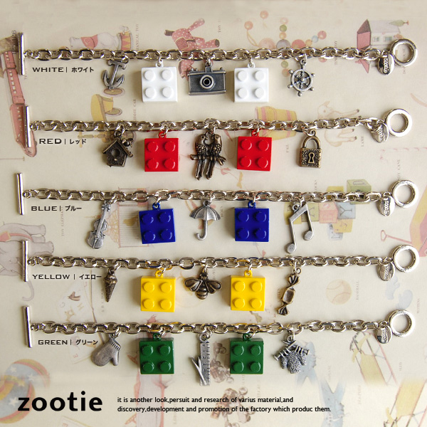 Special block bracelet that collaborated with the popular noumochief! Accessories adult fun ♪ pop kitsch toys motif x fairy tale motifs ◆ zootie (SETI): block bracelet x noumochief