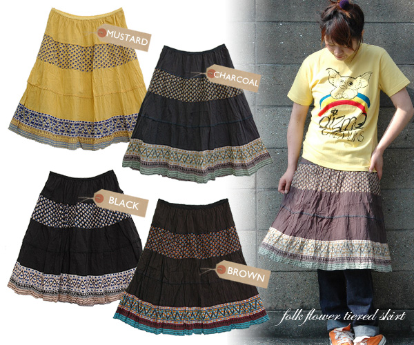 Match ◆ fork flower tiered skirt best to a natural petit flower the patchwork of the dot