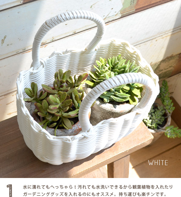 Basket bag lady miscellaneous goods bag lunch bag basket Eco bag vinyl basket bag vinyl basket bag tote bag kids child handbag accessory case storing interior summer ◆ zootie (zoo tea): ☆☆ Nattu basket bag [S] during the event