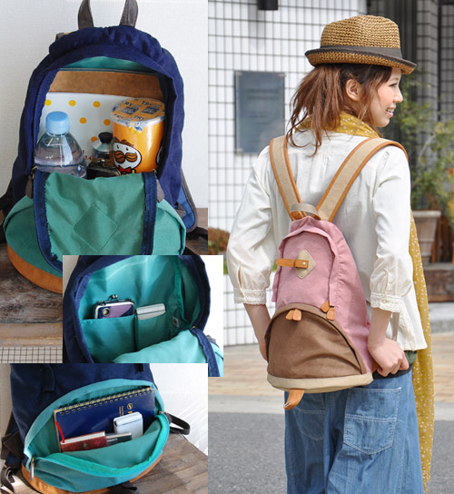 Form like a penguin's adorable casual ユニセックスバッグ / daypack / men's / women's /OUTDOOR / Street / excursion / bag / bag / plain / bag / bag / unisex two tone color colorful ◆ カラフルペンギンリュック suck