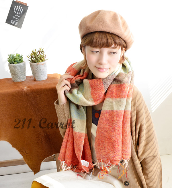Total series 17,587-sold out! Hand of kindness, warmth and volume boasts ultra ロングセラーボーダー shawl! And with a roll / rug(hizakake) / fringe / cold / unisex / blanket / unisex ◆ エーラボーダーモヘアラージ stall