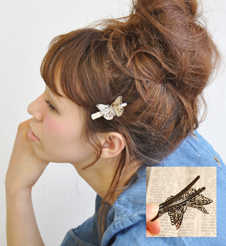 Total series 7,032 pieces sold out! Two different angles of the same size of the overlaps, as have two Butterfly dance! Also keep in mind your bag cute hairclip ◆ ソリッドバタフライヘア clip