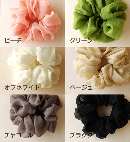 11,075 Pieces sold out! Once maiden degree up in ボリューミィーシュシュ of a flower! Sheer chiffon material-friendly atmosphere give fluffy hair accessories ◆ ブルームシフォンシュシュ