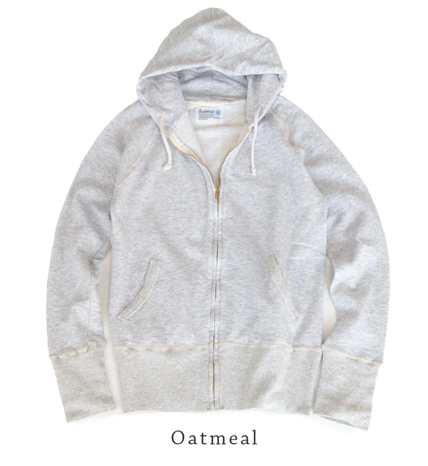 Beautiful, in the style even more! and vintage wear, コンパクトパーカー. Simple one from live material and sewing! / Made in Japan / long sleeve / women's / solid / ZIP / Zip ◆ Saintete ( サンテテ ): sweat full ZIP parka