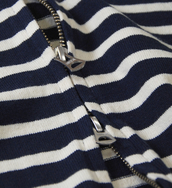 Saintete standard with 16 / Indian border = border pattern hoodies! Material & stuck to wear hooded カジュアルジップアップライトアウター / made in Japan / sewn ◆ Saintete ( サンテテ ): 16 / = border ZIP parka