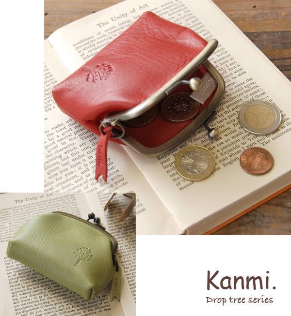 Cute plump rounded form cowhide leather coin purse! Handmade writer Cammy modest purse was smaller than wood / ladies ' ◆ kanmi.( Cammy ): drop tree coin purse coin purse