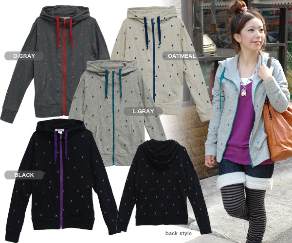 Parker whom microskirt argyle checked pattern was inlaid with appears than the gym master of the unisex brand! It is attention that ♪◆ gym master to the colorful zipper of the food parka full of casual inside classical tastes: Argyle dot zip up parka