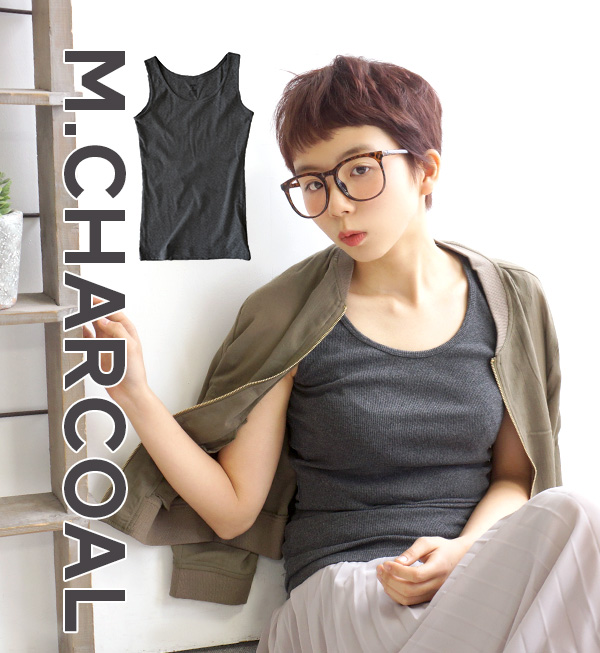 119,676-Sold out! Long tank cover to exquisite neckline easy wearing and ass are ideal complete basic inner / cotton 100% / women's / long tank top ◆ Zootie ( ズーティー ): デイリーコーディネート tank top