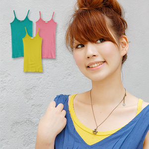 A long length camisole boasting pipe knitting processing and the USA cotton which are kind to skin thoroughly! The simple long camisole which is most suitable for the inner who worked for stretch excellent at comfort from Petica (pechka) is appearance ◆