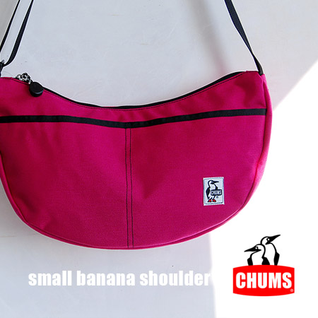 Durable Cordura nylon lesportsac Pochette /Small Banana Shoulder CD / outdoors / men's / women's / unisex / unisex ◆ CHUMS ( chums ): ナイロンスモールバナナショルダー bags