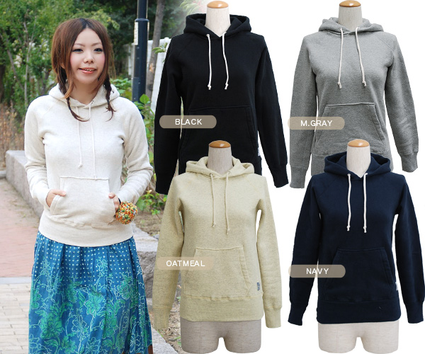 The soft feel of 100% of cotton which I want to wear even every day! A simple parka boasting comfort and the material only in sun Tete! A large pocket is accent ◆ Saintete: Food sweat shirt warm pullover