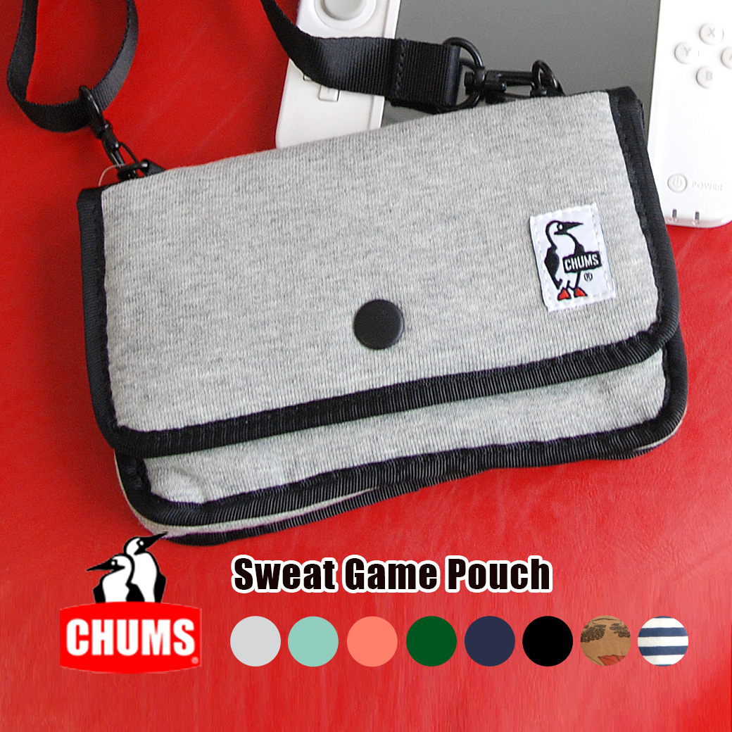 Shoulder bag digital camera case mini-pochette digital camera case game case batting sweat shirt soft case CH60-0727 ◆ CHUMS (Kiamusze) for the game of the size to enter to Nintendo 3DSLL DS Lite DSi 3DS DSi LL PS Vita: Sweat shirt game porch