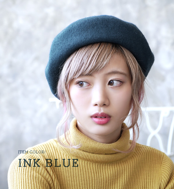 Beret code plus stylish accent to this プチプライス! Basic made felt material of moderate thickness, can habitually clean form. / Hat / Hat ◆ standard felt beret