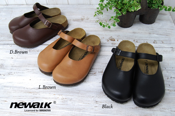 ●●In shoes thought about for a healthy foot walking! Spacious tiptoe and real leather style slip-ons ◆ newalk that new walk's original material of ビルケンシュトック Corporation wrapping in the belt strap which I can regulate is stylish: IJSSEL IJssel [strap slip