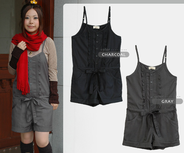 The monotone salopette which added a pin-tuck and a quality of of the chest child of the woman including frill & ribbon! An overall of the short pants length that a shoulderstrap can regulate than a double closet is appearance ◆ w closet: Cool frill