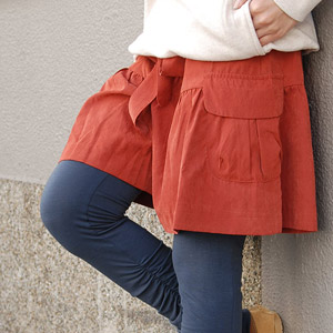 A Kansai girl's style exp .29 publication! The short pants which feature the opening silhouette of the hem such as the skirt! The large pocket that a ribbon belt and the expression are changed to the peach skin place culottes is bottoms ◆ zootie where ch