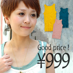 43,112-Sold out! Legend items are coming! Show facial expressions that fubuki spiders in our long, sheer, soft fabric is layered power up! is kept comfortable so easy to carry your laundry and travel time ◆ Zootie ( ズーティー ): クシュプレス tank top