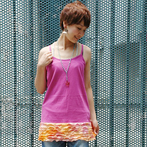 If show it, and perform a chiller from a hem, coordinates are girly in a moment; makeover! Do a waistline with the camisole with the frill which color バリエ has abundant from tie-dyed dyeing to a basic color gorgeously; ♪◆ w closet (double closet): Air Lee