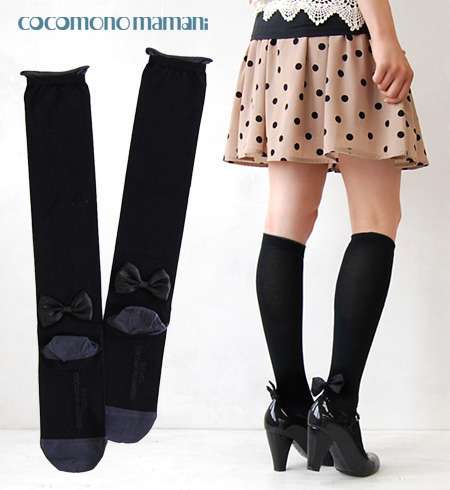 Back from the top of the shoe looks demurely Ribbon casual and cute socks! Hand-sewn one by one have a Japan-made socks Ribon original was made a cute piano recital or concert, important and special day in ‥ ‥ take ◆ cocomono mamani ( ココモノママニ ): behind t