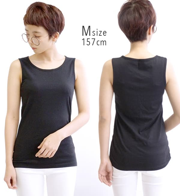 376,724 pieces are sold out! The M/L/LL/3L different colors purchase is recommended! Affordable price basic inner [tank top] who can choose it from ☆ 4 size during lady's tops no sleeve underwear layering plain fabric cotton 100% cotton simple size ◆☆ ev