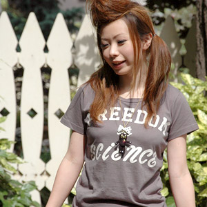 Simple logo Tee shirt! The English sentence that was written with two kinds of styles casual logo short sleeves T-shirt ◆ Zootie (zoo tea) of the big impact: Style logo T-shirt