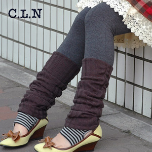 The greed fake lei yard leggings that both トレンカ and the leg warmer are available! Heel gap between difficult step spats ◆ C.L.N (sea L N) that the layering can realize with one this: ボーダートレンカ X knit leg warmer spats