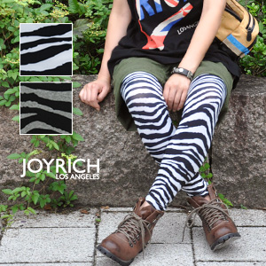How about with leggings if I adopt an animal pattern cool! のように zebra pattern full-length spats ◆ JOY RICH (Joey Rich) of departure from LA brand JOY RICH skinny with firm cloth to be able to dress well coolly: Smart zebra leggings