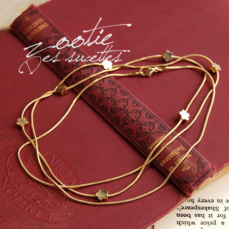 So call happy star-shaped flower motifs change. fancy star flower gold chain necklace bracelet pattern floral ladies ◆ zootie (SETI): wishmochiefrainlongnecklace