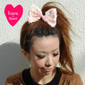 Lara &Heart's shimmering sequin Ribbon hair elastics is gorgeous enough! Daily & party scene than can be used versatile hair accessory and bracelet [&Heart Lara (Lara and heart): span callribonhairgom