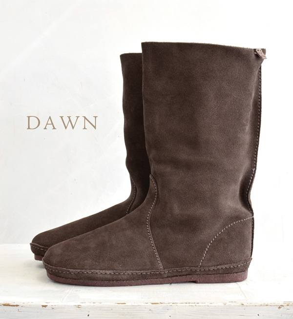 Leather using only natural materials with soft handmade pettanko pettanko suede boots! Natural crepe sole is flexible, safe slip ◎ /color:dawn dawn dune dune and down / spring boots ◆ Koos (course) :lucas-M SU ルーカススエードレザー boots