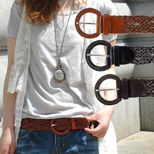 One is to hold a basic leather braided belt! Mesh on so cool and a little feminine! long wide weydert Westmark using real leather recycled leather and browsing can be used ◆ レザーメッシュリング buckle belt