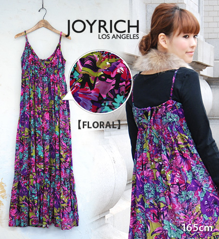 Logo charm that JOYRICH pattern sweater dress! Boasting one of the largest presence of long-length Maxi dresses, Obi(belt) attached piece and 80's like /Lavished MaxiDress/S size m size and spring dress ◆ JOY RICH ( Mickey Mouse No1 ): ラビッシュドティアードマキシ dre