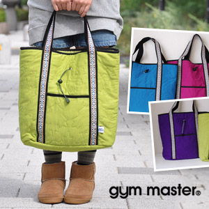 I design large-capacity & where is good to OUTDOOR well! The sweat shirt quilting bag of the point debuts a Tyrolean tape errand! Unisex Bag/ nylon lining / shoulder cliff / shawl / man and woman combined use ◆ gym master (gym master) with outside po