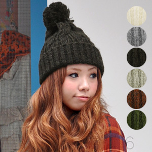 I appear with the natural collar which a winter constant seller accessory knit chief has abundant! It is が CUTE ◎ / wool blend ◆ Olga bonbon knit cap the woolen fluff that heavy rotation certain の hat ♪ is thin by standard astringent juice め color plonk