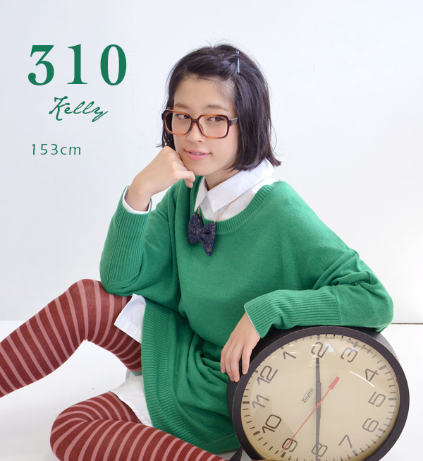 Looking thinner sweater Lady's long sleeves dolman knit dress washable knit ◆ zootie (zoo tea) of the heteromorphic dolman sleeve which a knit dress is loose, and is cute: Cashmere touch flying squirrel sleeve knit dress