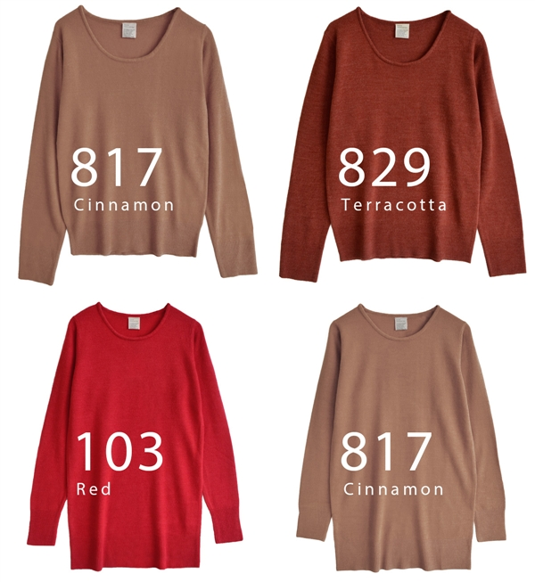 Dress washable knitwear! Lady's tops long sleeves knit dress crew neck tunic big size washable knit ◆ zootie (zoo tea) in the fall and winter: Cashmere touch round neckline knitwear [standard / tunic]