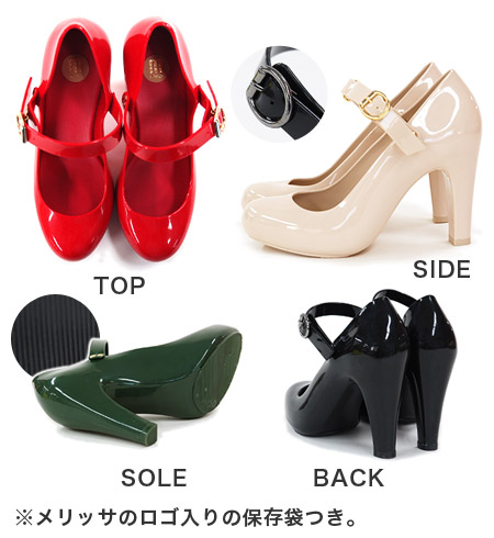 30614 classical rubber import temptation 2 SP accessory simple AD shoes shoes Womens cute fashionable store Rakuten • melissa (Melissa officinalis): won strap rubber pumps [TEMPTATION II]