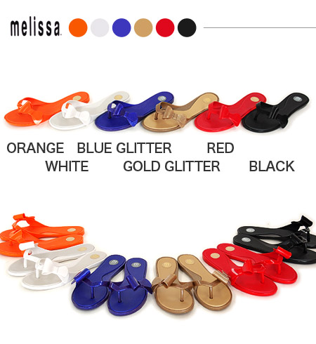 Stylish mail order ◆ melissa (Melissa) which ぺたんこ sandals ♪ 30629 beach sandal B sun flattie SP AD import shoes shoes rubber Lady's belonging to りぼん has a cute: Ribbon tong sandals [JUTA]