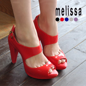 Shoes thickness bottom platform SP AD Amazonas import rubber 30569 shoes shoes lady's cute fashion mail order Rakuten ◆ melissa (Melissa) excellent at a beautiful leg effect: Backstrap high-heeled shoes rubber sandals [AMAZONAS] << outlet article &