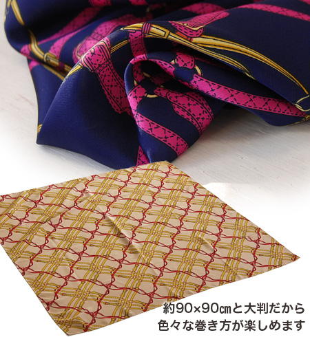 The cross of a belt and the chain repeated regularly is a circle, and the arrangement such as triangle winding and the tie of the silk scarf style large size shawl ♪ Afghan stall style such as the checked pattern, a bandana is various! It is ◆ Shin Tron