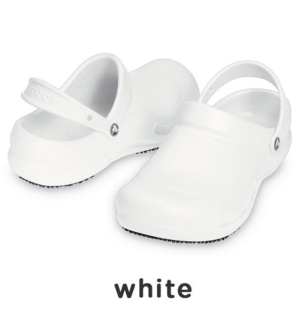 Crocs for people working in the kitchen made ワークシューズビストロ! Adopt a crocslock sole slip! Ideal to work standing in the kitchen クロスライトスリッポンサンダル / cock shoes / Cook / shoes WASHABLE quick drying ◆ bistro crocs (crocus)