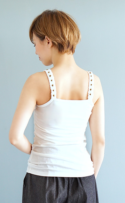 """I """"strongly"""" wear it in cool studs and race. Size ◆ zootie (zoo tea) which the cool underwear which a lady's tops inner no sleeve tank race tank has a cute has a big in the summer: Studs shoulder camisole"""