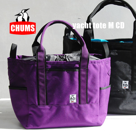 With plenty of outdoor feel with excellent strength Cordura nylon shoulder BAG! Over the shoulder gusset and men's / women's / unisex / unisex / shopping bags / bag /Yacht Tote M ◆ CHUMS ( chums ): ナイロンヨットトート bag [M]