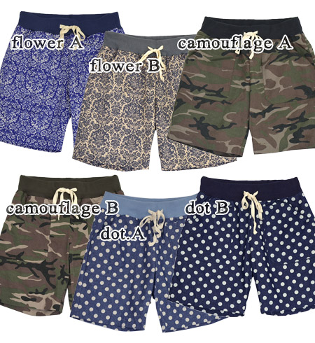 Atmosphere faded and very adult-like your colors were wonderful. Shorts-length straight silhouette of the cotton material can be used all year round. Its fun Chin! / flower / with / polka / half-length / shorts ◆ C.L.N( シーエルエヌ ) ウエストリブコットン shorts