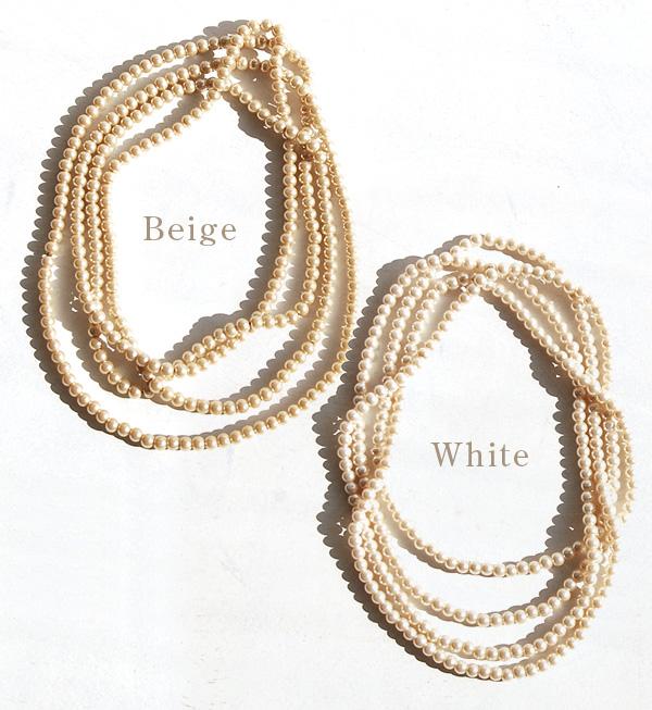 ロングパールネックレス want to Daly too dressy. Fastener not long necklace, because in single, double, or bracelet ◎ and glasper and parkers / party / accessories / Pearl wind / 首飾り ◆ ガラスパールロングネックレス