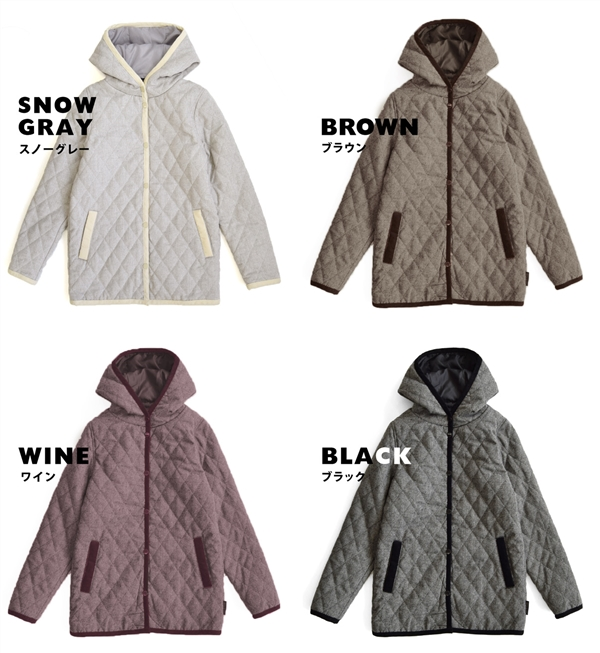 Featured in the adult color is deep this year. Also water repellent and resistant to rain and snow, batting quilt jacket! / Hood jacket / coat / long-sleeved ◆ Zootie ( ズーティー ): Union Quilted Jacket [standard]