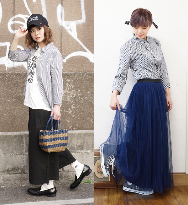 The regular shirt which a great variety of ornamental buttons were attached to as having remade. Lady's tops collared shirt blouse long sleeves three-quarter sleeves seven minutes sleeve rivet & surge ◆ rivet and surge (rivet and serge) button enthus